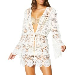 Julius Tie-Front Lace Coverup Dress found on MODAPINS from neimanmarcus.com for USD $295.00