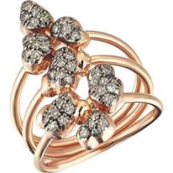 Beyond 14k Diamond Meteorite Ring, Size 6.75