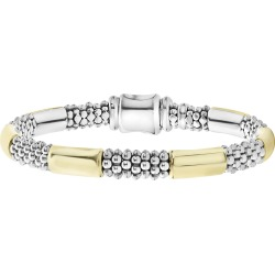 High Bar 6-Station Bracelet w/ 18k Gold, 7.5-8