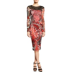 Mistical Crochet-Neck Bodycon Dress found on MODAPINS from neimanmarcus.com for USD $475.00