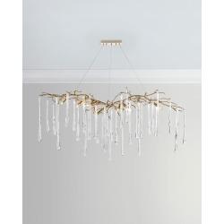 Brass & Glass Teardrop Chandelier found on Bargain Bro Philippines from neimanmarcus.com for $5565.00