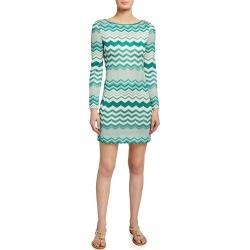 Chevron Crochet Mini Dress found on MODAPINS from neimanmarcus.com for USD $1555.00