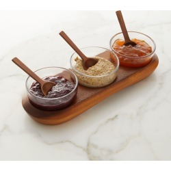 Cooper Triple Condiment Server with Spoons