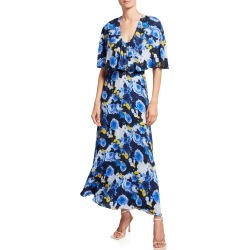 Floral-Print Capelet Midi Dress found on Bargain Bro Philippines from neimanmarcus.com for $1590.00
