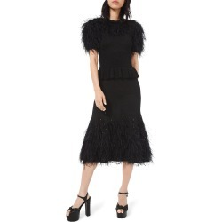 Feather-Trim Knit Cocktail Dress found on MODAPINS from neimanmarcus.com for USD $2850.00