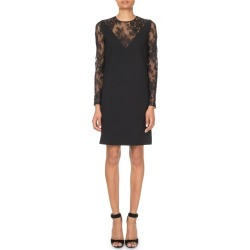 Lace-Inset V-Illusion Mini Dress found on MODAPINS from neimanmarcus.com for USD $2725.00