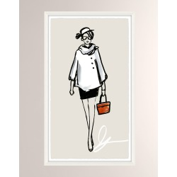 OOTD Fancy V Giclee On Paper Wall Art With Frame found on Bargain Bro from neimanmarcus.com for USD $197.60