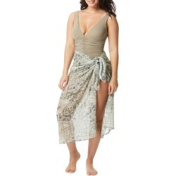 Animal-Print Chiffon Sarong Coverup found on Bargain Bro India from neimanmarcus.com for $82.00