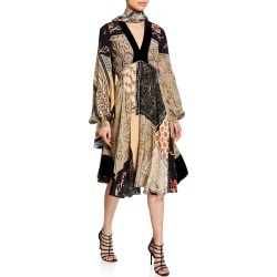 Patchwork Deco Floral Dress found on MODAPINS from neimanmarcus.com for USD $2590.00