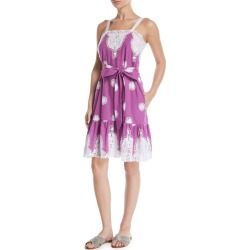 Mindy Sleeveless Belted Embroidered Cotton Sun Dress found on MODAPINS from neimanmarcus.com for USD $550.00