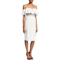 Cold-Shoulder Corset Cocktail Dress found on MODAPINS from neimanmarcus.com for USD $195.00