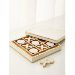 Cream Shagreen Tic Tac Toe found on Bargain Bro India from neimanmarcus.com for $695.00