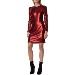Long-Sleeve Sequin Mini Dress found on MODAPINS from neimanmarcus.com for USD $550.00