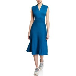 Cross-Back Sleeveless Knit Dress