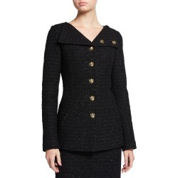 Asymmetric-Collar Sequin Tweed Jacket found on Bargain Bro Philippines from neimanmarcus.com for $1895.00