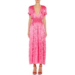 Puff-Sleeve Jacquard Floral Dress found on MODAPINS from neimanmarcus.com for USD $798.00