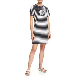 Striped Logo T-Shirt Dress found on MODAPINS from neimanmarcus.com for USD $228.00