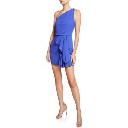 One-Shoulder Drape-Front Mini Dress found on MODAPINS from neimanmarcus.com for USD $295.00