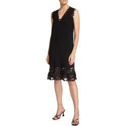 Donna Lace-Trim Shift Dress found on MODAPINS from neimanmarcus.com for USD $369.00
