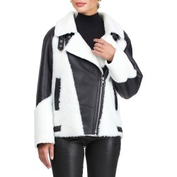 Shearling Lamb Zip Moto Jacket