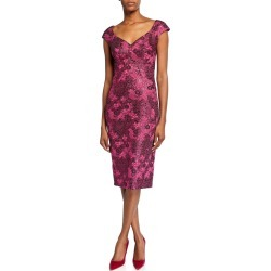 Metallic Floral-Jacquard Cocktail Dress found on MODAPINS from neimanmarcus.com for USD $583.00