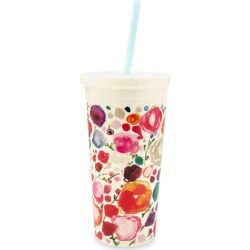 floral tumbler with straw found on Bargain Bro India from neimanmarcus.com for $18.00