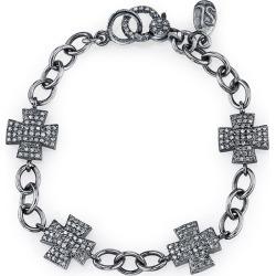 Diamond Pave Maltese Cross Bracelet