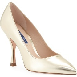 Tippi 95mm Metallic Leather Point-Toe Pumps found on MODAPINS from neimanmarcus.com for USD $398.00
