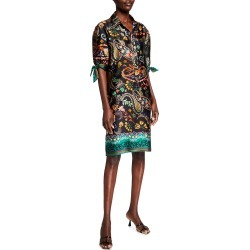 Paisley Elbow-Sleeve Shift Dress found on MODAPINS from neimanmarcus.com for USD $395.00