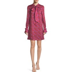 Tie-Neck Long-Sleeve Floral-Print Shift Tunic Dress found on MODAPINS from neimanmarcus.com for USD $967.00