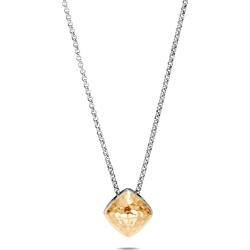 Classic Chain Hammered 18k Gold Pendant Necklace, 15mm found on Bargain Bro from neimanmarcus.com for USD $342.00