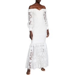 Eyelet Lace Off-the-Shoulder Gown found on MODAPINS from neimanmarcus.com for USD $632.00