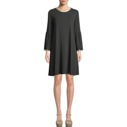 Fluted-Sleeve Swing Dress found on MODAPINS from neimanmarcus.com for USD $82.00