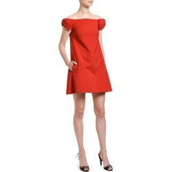 Off-the-Shoulder Crepe Shift Dress found on MODAPINS from neimanmarcus.com for USD $1149.00