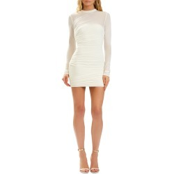 Draped Mesh-Overlay Mini Dress found on MODAPINS from neimanmarcus.com for USD $890.00
