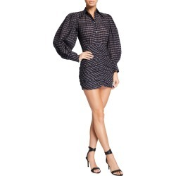 Plaid Balloon-Sleeve Mini Dress found on MODAPINS from neimanmarcus.com for USD $1130.00