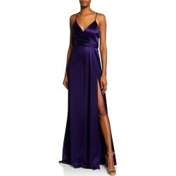 Satin Wrap Sleeveless April Slip Dress found on MODAPINS from neimanmarcus.com for USD $333.00
