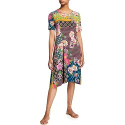 Maggie Mixed-Print Swing Dress found on MODAPINS from neimanmarcus.com for USD $198.00