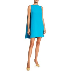 Caped Shift Mini Dress found on MODAPINS from neimanmarcus.com for USD $876.00