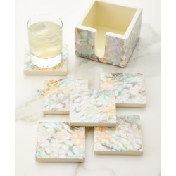 Mother of Pearl Natural Coasters, Set of 6 found on Bargain Bro Philippines from neimanmarcus.com for $149.00