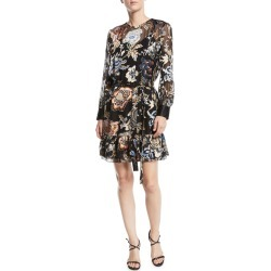 Cora Ruffle-Hem Floral Dress found on MODAPINS from neimanmarcus.com for USD $268.00