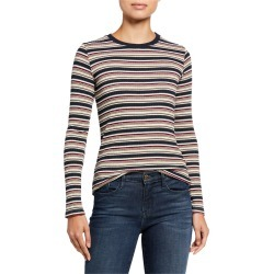 Kia Striped Long-Sleeve Top found on Bargain Bro India from neimanmarcus.com for $54.00