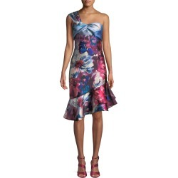Floral-Print One-Shoulder Cocktail Dress found on MODAPINS from neimanmarcus.com for USD $173.00