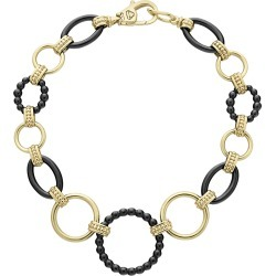 18k Gold Caviar Link Bracelet w/ Black Ceramic found on Bargain Bro from neimanmarcus.com for USD $1,729.00