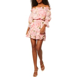 Danae Off-the-Shoulder Mini Dress found on MODAPINS from neimanmarcus.com for USD $325.00