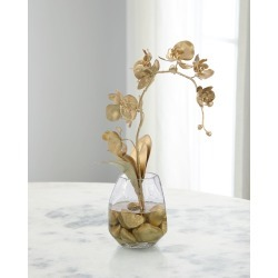 Gold Nugget in Glass Vase