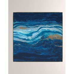 Sapphire Flow Giclee On Canvas Wall Art With Frame found on Bargain Bro from neimanmarcus.com for USD $440.80