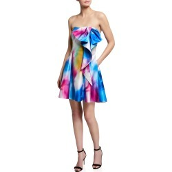 Bow Printed Strapless Dress found on MODAPINS from neimanmarcus.com for USD $595.00