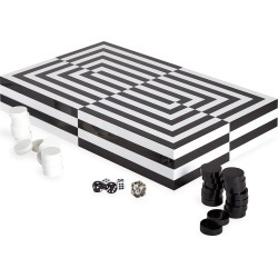 Optical Illusion Art Backgammon Set found on Bargain Bro India from neimanmarcus.com for $395.00