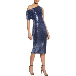 Sequin One-Shoulder Cocktail Dress found on MODAPINS from neimanmarcus.com for USD $163.00